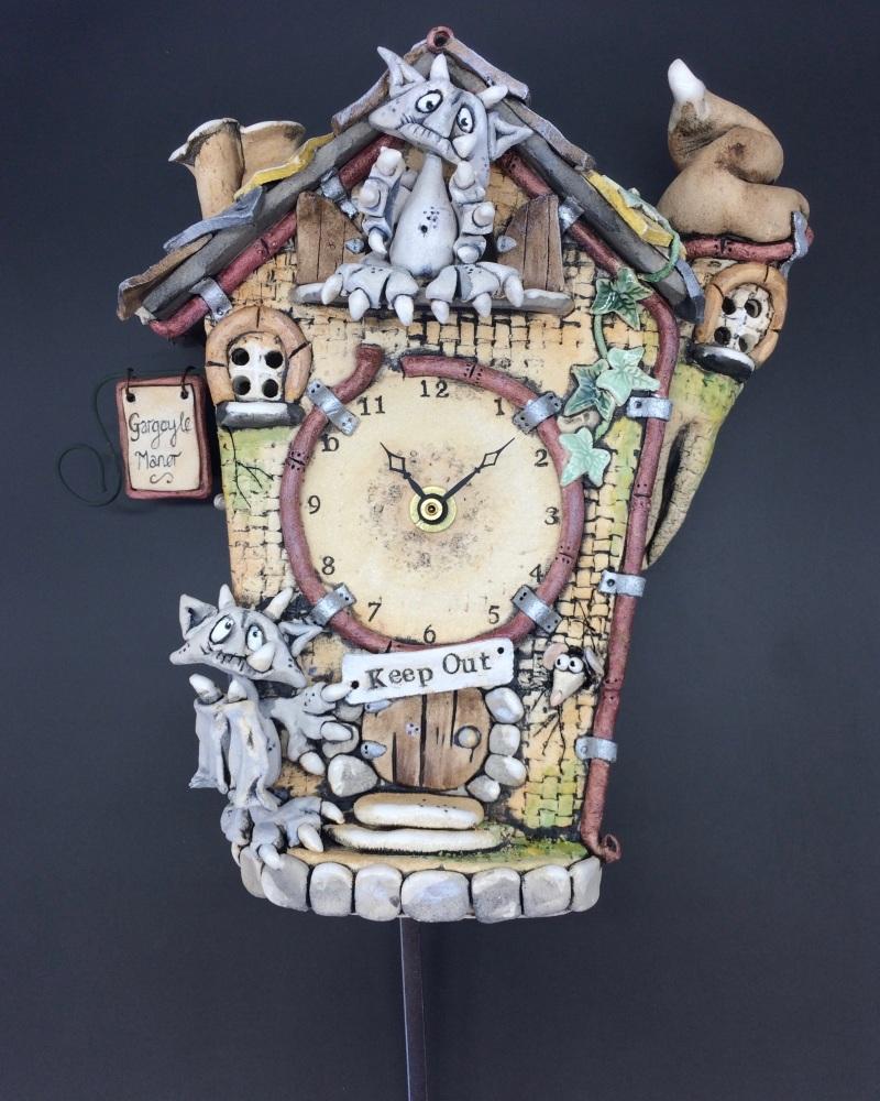 Gargoyle Cuckoo Wall Clock with Pendulum