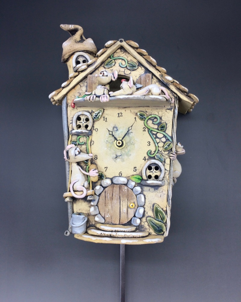 Mouse Cuckoo Wall Clock with Pendulum