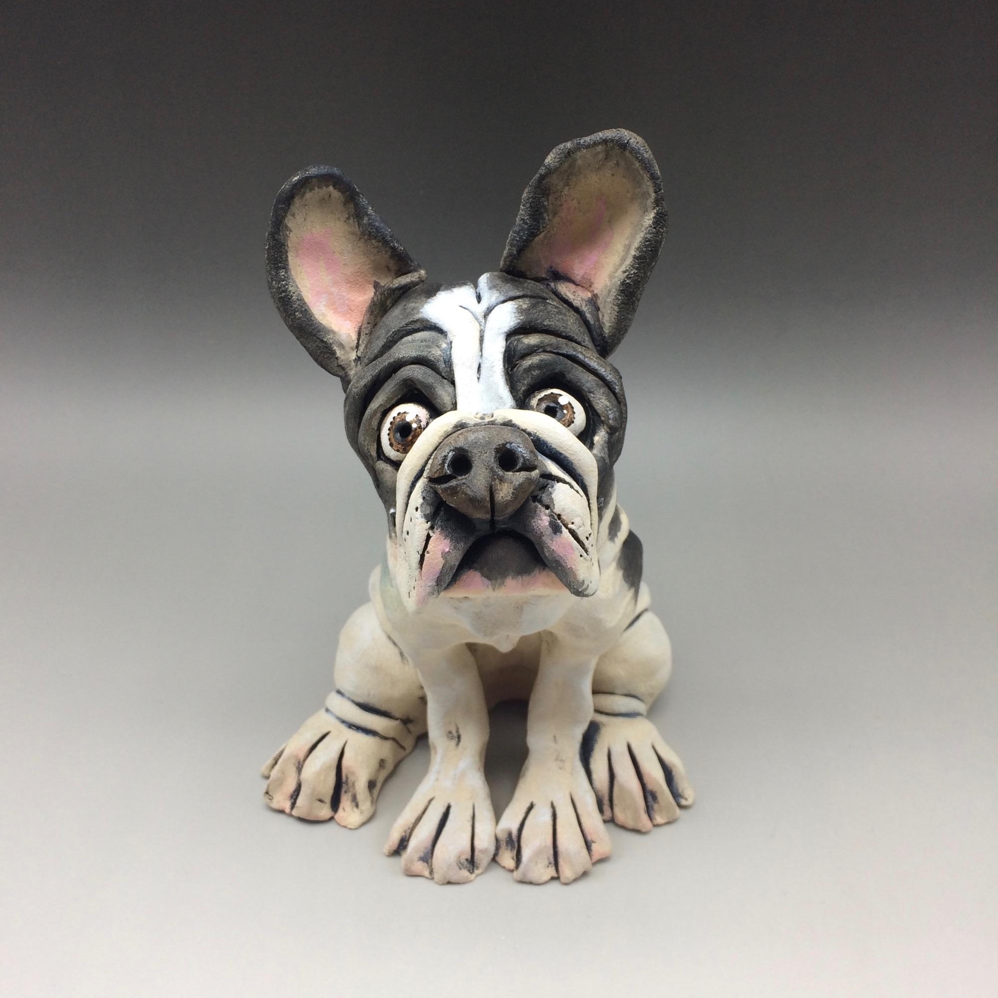 French Bulldog Sculptures Ceramic