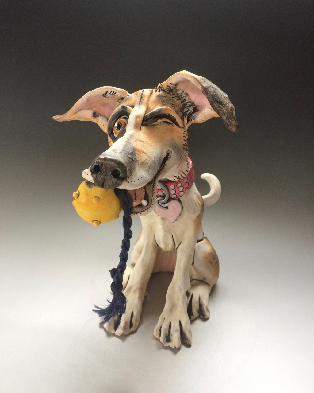 Terrier Dog Sculptures Ceramic
