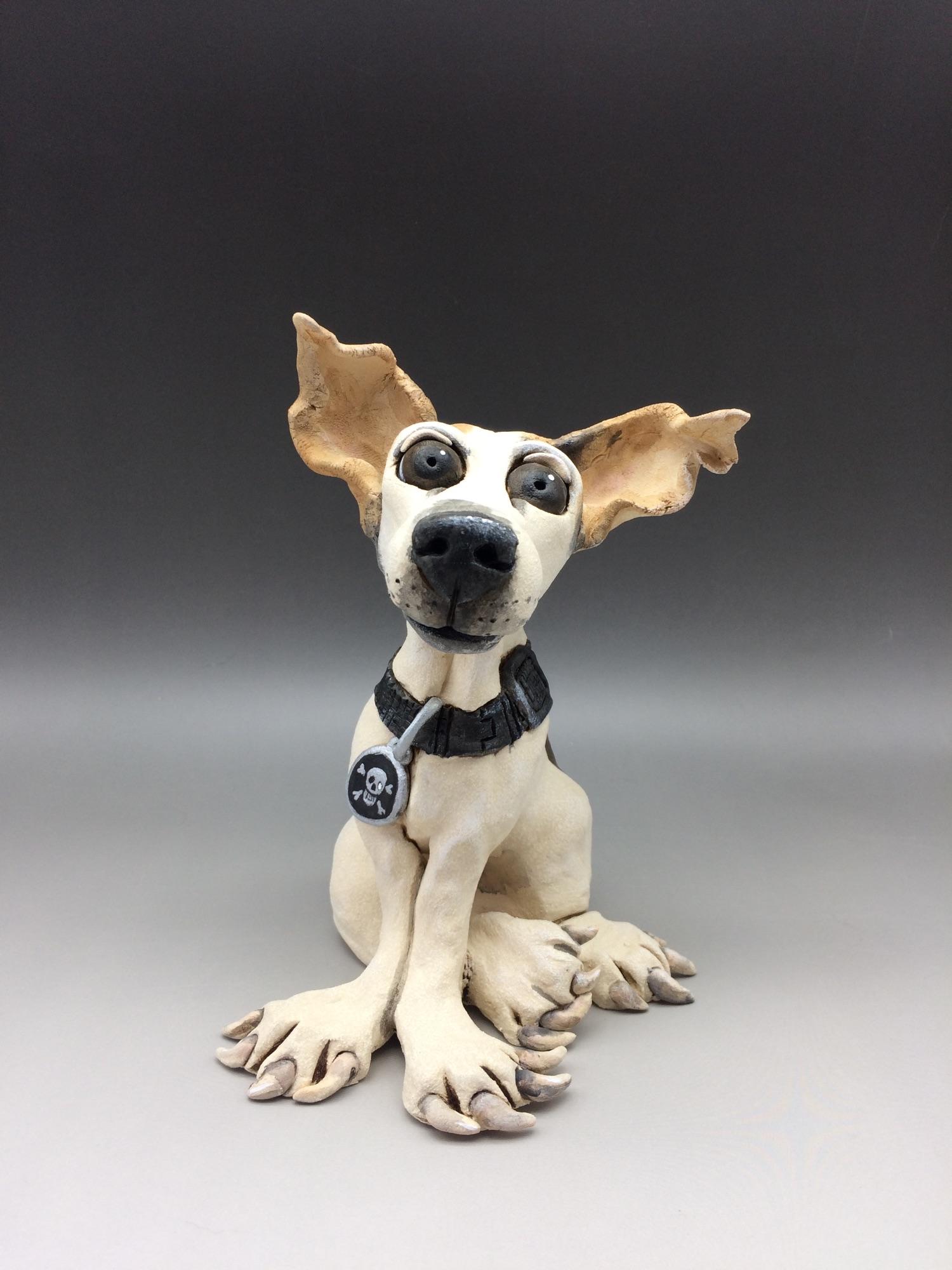 Jack Russell Dog Sculptures Ceramic