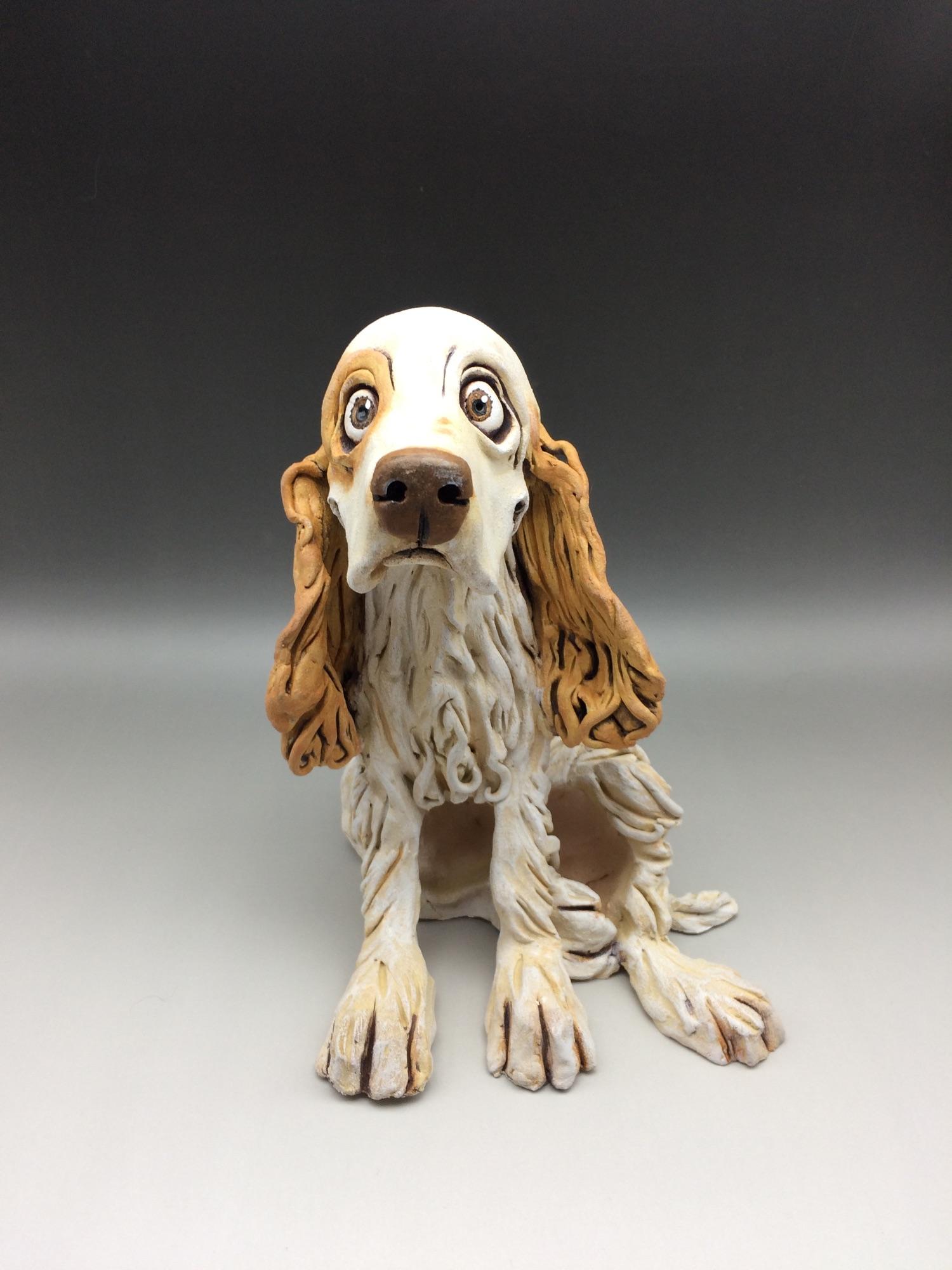 Springer Spaniel Dog Sculptures Ceramic