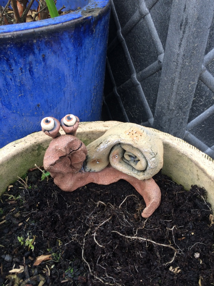 Garden Snail Decoration Ceramic