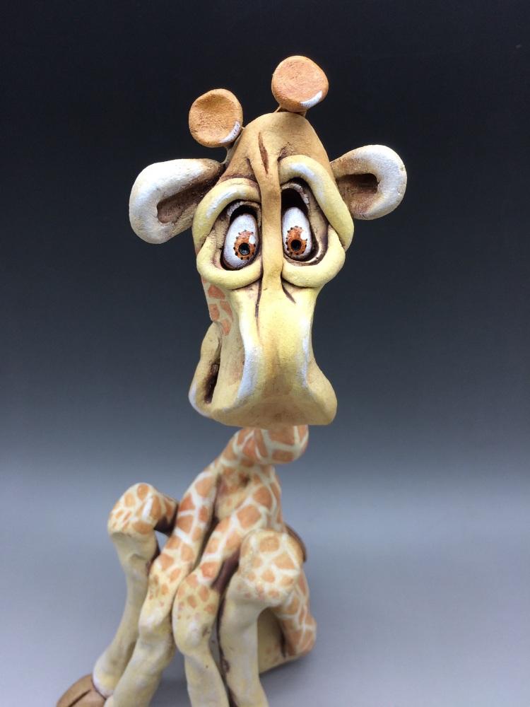 Giraffe Sculpture - Ceramic