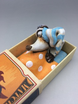 Mouse in a Matchbox Sculpture - Rings of Fire