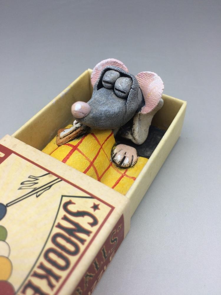 Mouse in a Matchbox Sculpture - Snooker Balls