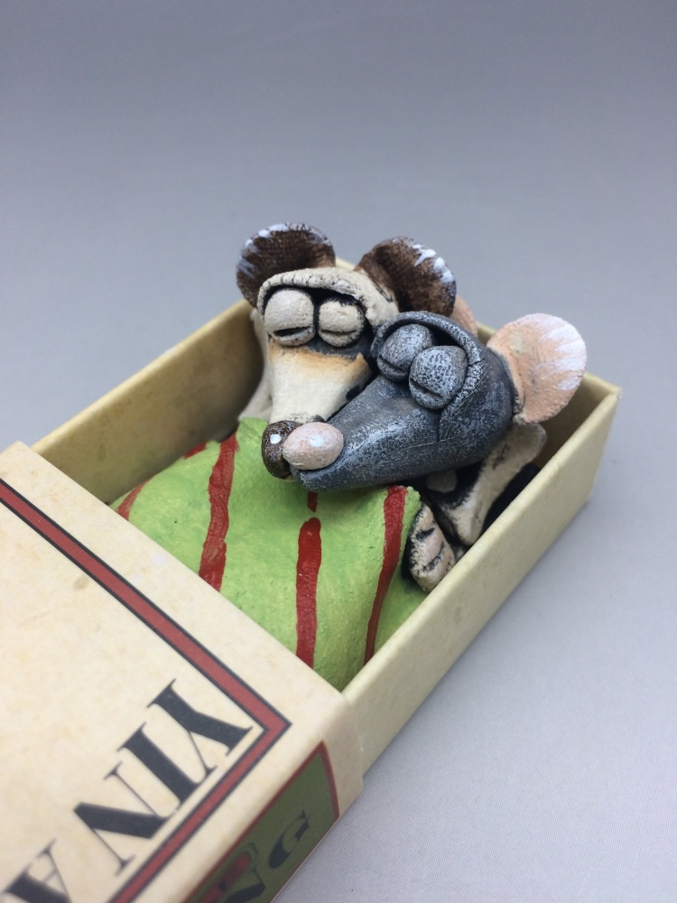 Mouse in a Matchbox Sculpture - Ying and Yang