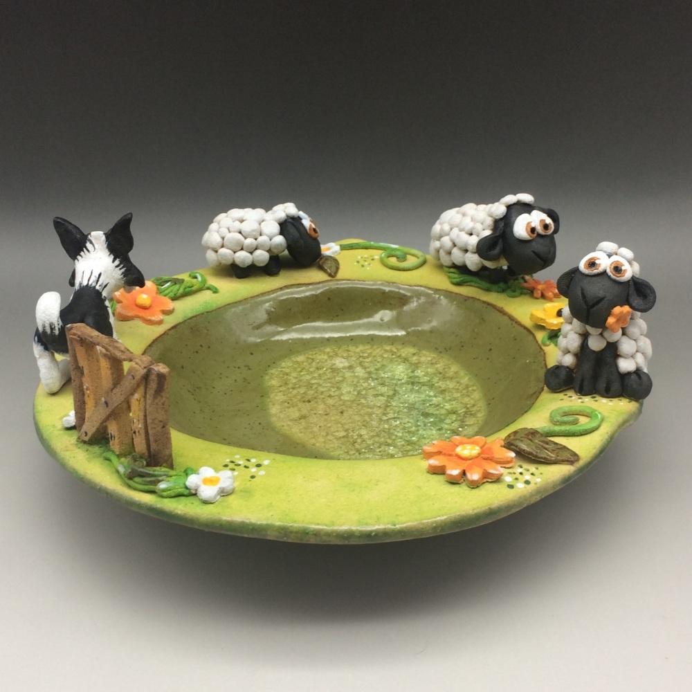 Lambs and Sheepdog Bowl