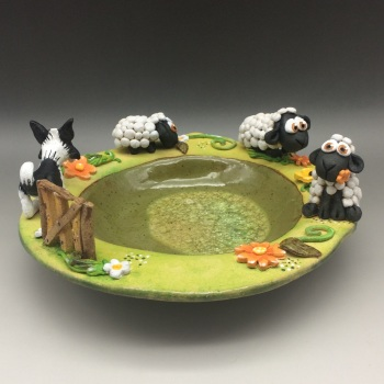 Lambs and Sheepdog Bowl