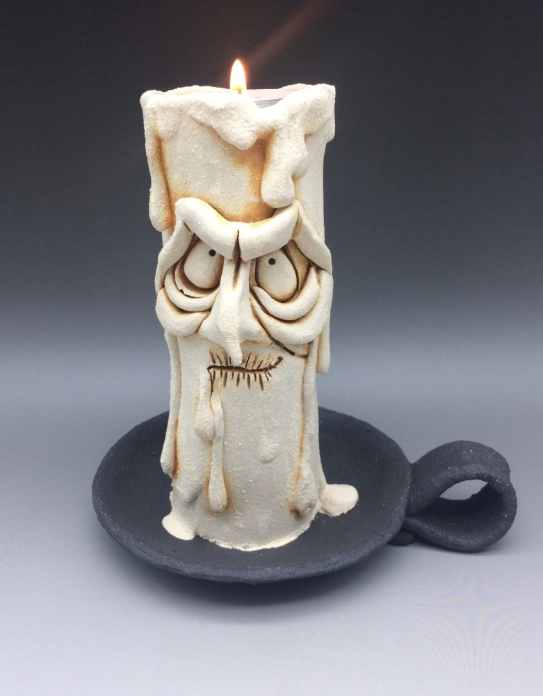 Grumpy Candle Tea Light Holder, 'Ronnie'