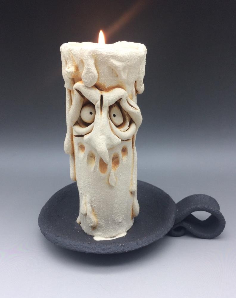 Grumpy Candle Tea Light Holder, 'Reggie'