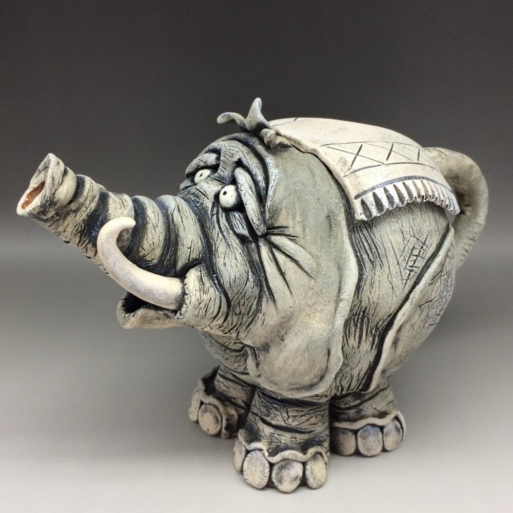 Elephant  Teapot Ceramic