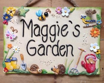 Garden Sign,  Wellies Design