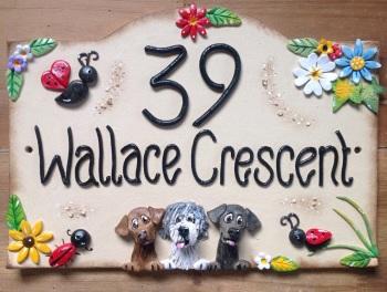 House Sign Ceramic - Ladybirds Design