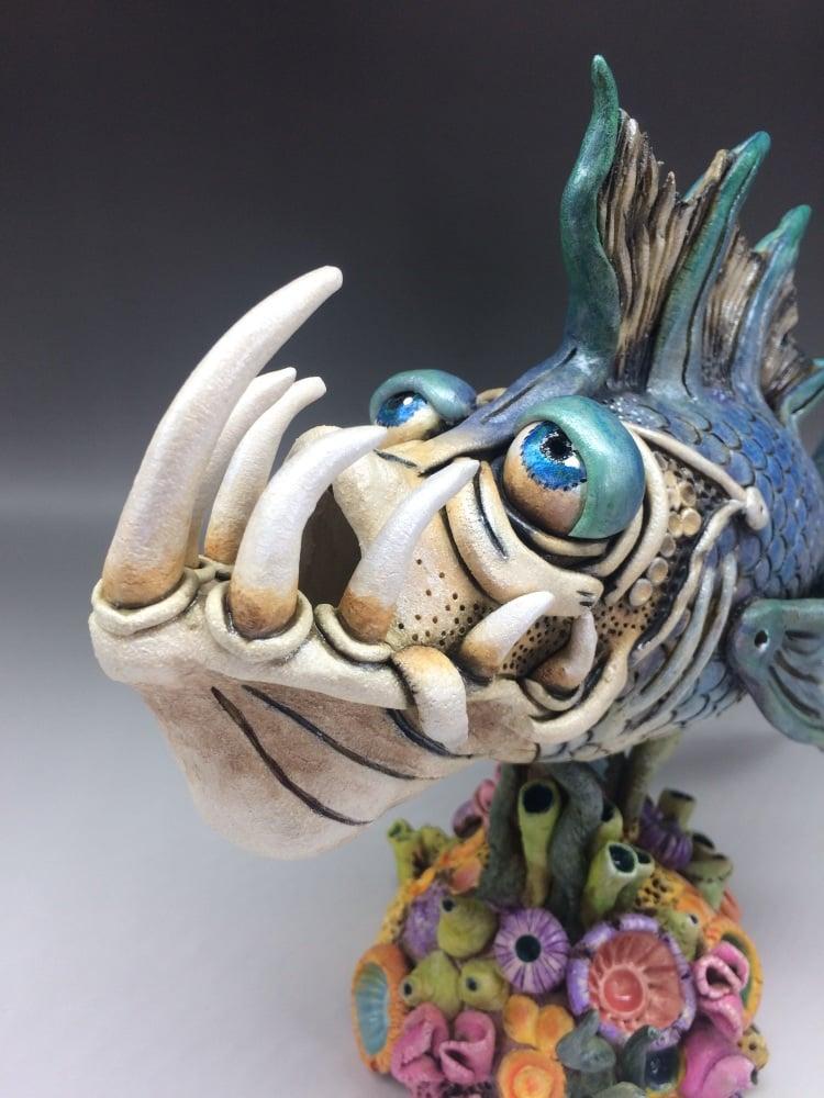 Poseidon Fish Sculpture