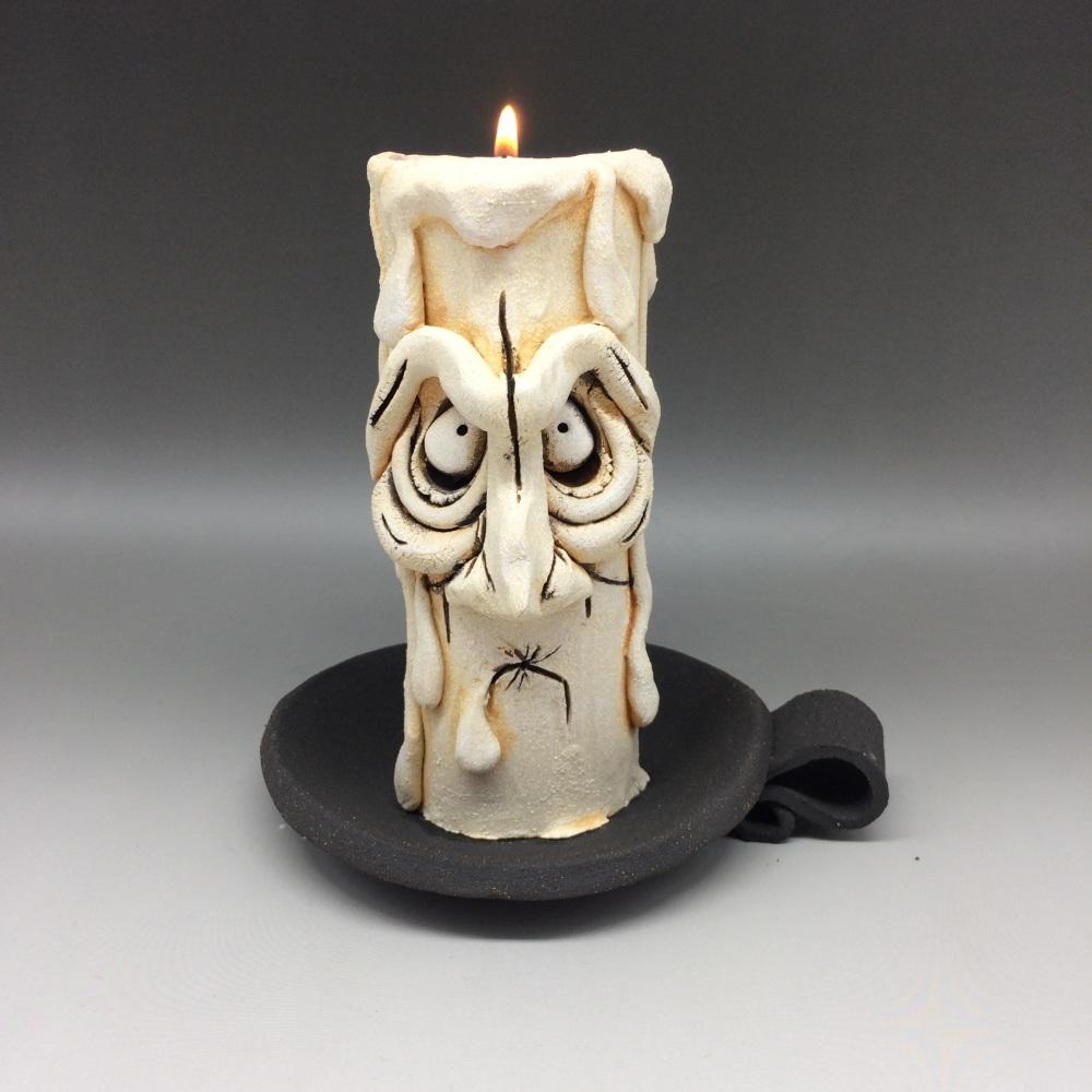 Grumpy Candle Tea Light Holder, 'Ned'