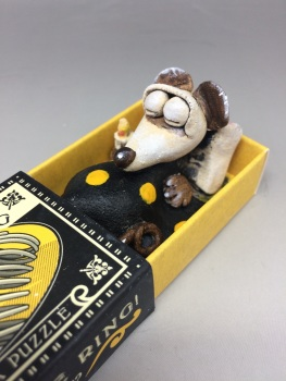 Mouse in a Matchbox Sculpture - Spring the Ring