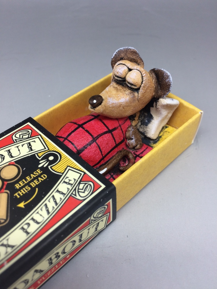 Mouse in a Matchbox Sculpture - Roundabout