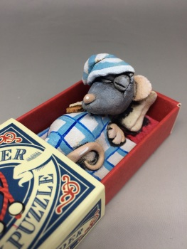 Mouse in a Matchbox Sculpture - The Step Ladder
