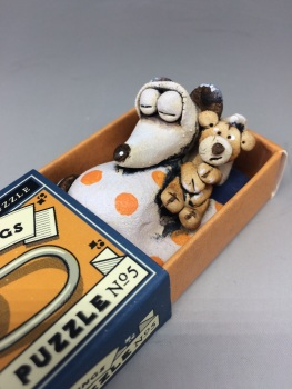 Mouse in a Matchbox Sculpture - The Three Rings