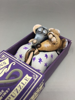 Mouse in a Matchbox Sculpture - The Gemini Twins