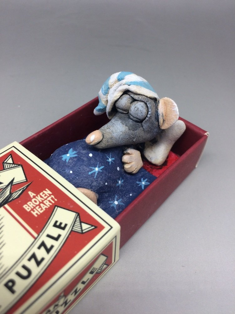 RESERVED Mouse in a Matchbox Sculpture - Walk the Plank