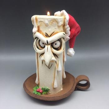 Christmas Grumpy Candle Tea Light Holder, 'Balthazar'