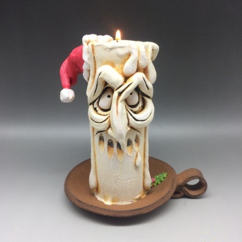 Christmas Grumpy Candle Tea Light Holder, 'Melchior'