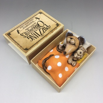 Mouse in a Matchbox Sculpture - Mouse & Ted