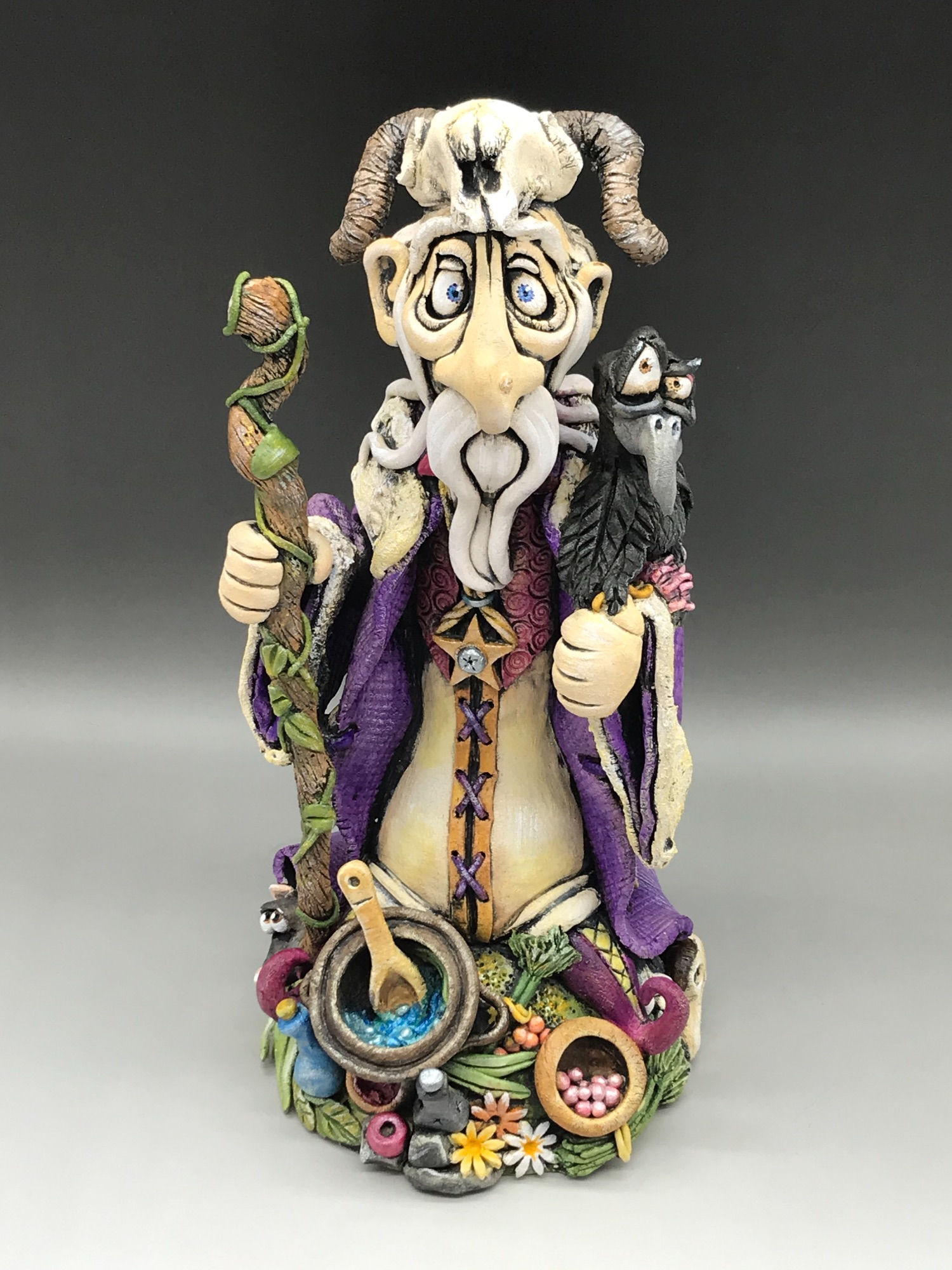 Druid Sculpture ceramic