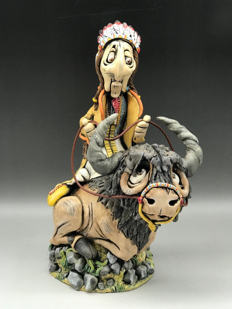 'Big Chief Sitting Bull'  Sculpture