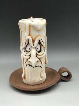 Grumpy Candle Tea Light Holder, 'Claude'