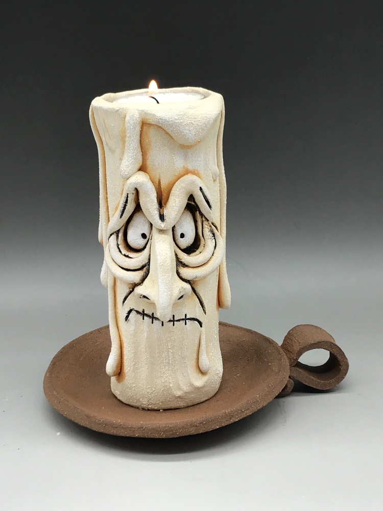 Grumpy Candle Tea Light Holder, 'Claude'