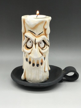 Grumpy Candle Tea Light Holder, 'Charles'