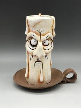 Grumpy Candle Tea Light Holder, 'Elvis'