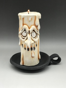 Grumpy Candle Tea Light Holder, 'Winston'