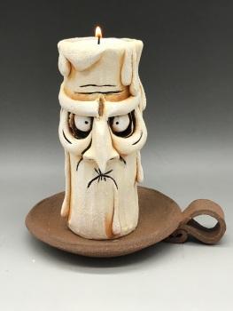 Grumpy Candle Tea Light Holder, 'Geoff'