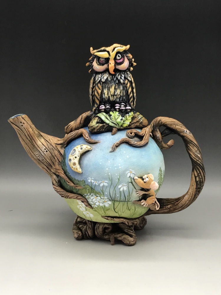 Night and Day Teapot Ceramic