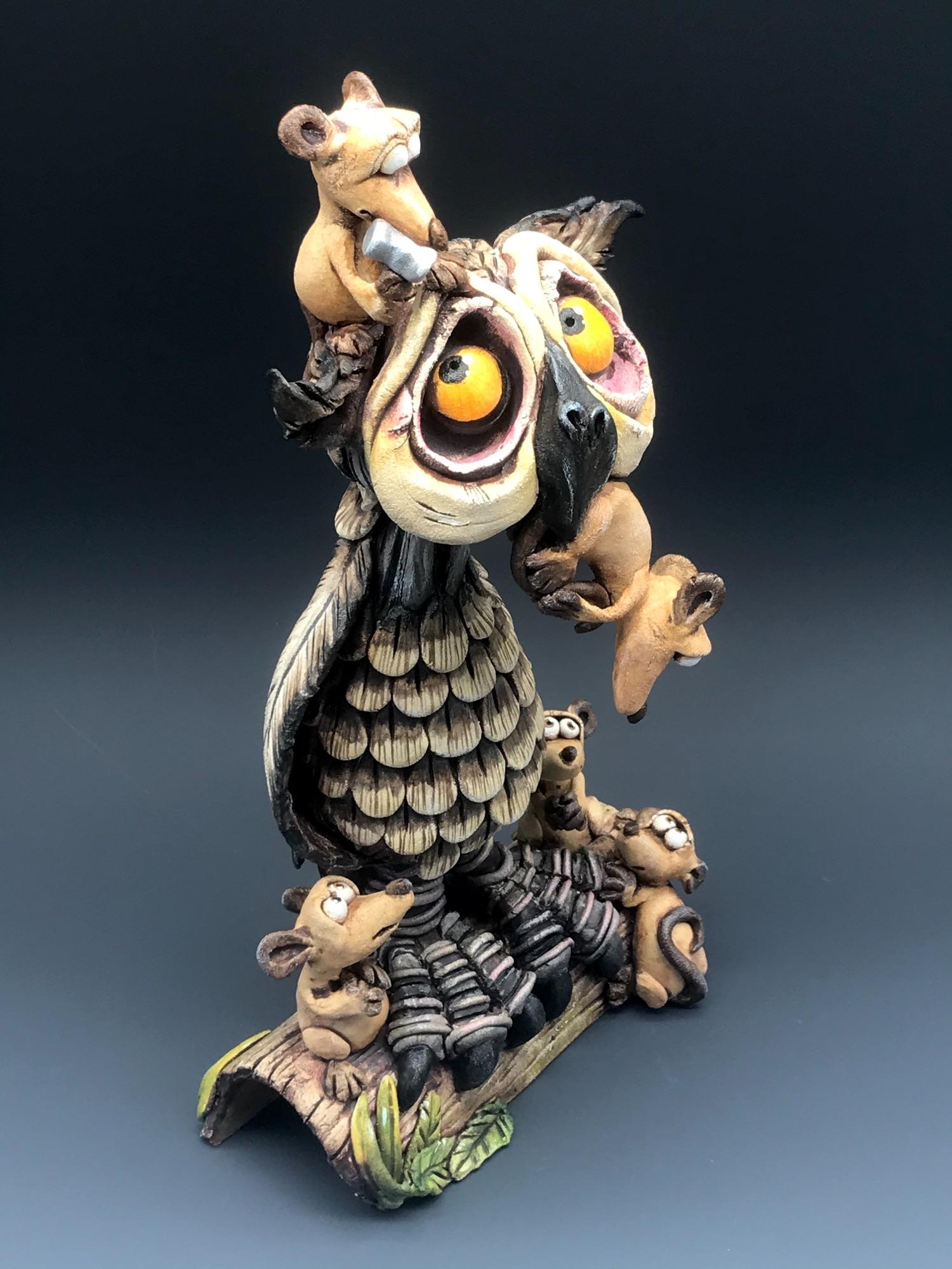 Owl Sculpture ceramic