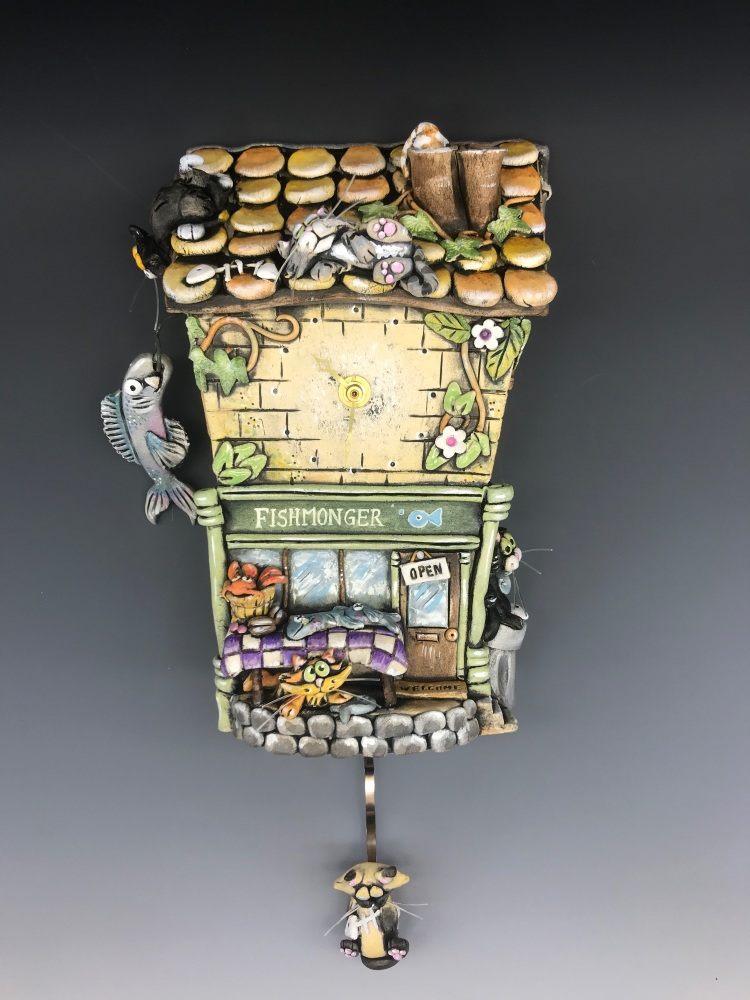 The Fishmonger, Cat Pendulum Clock