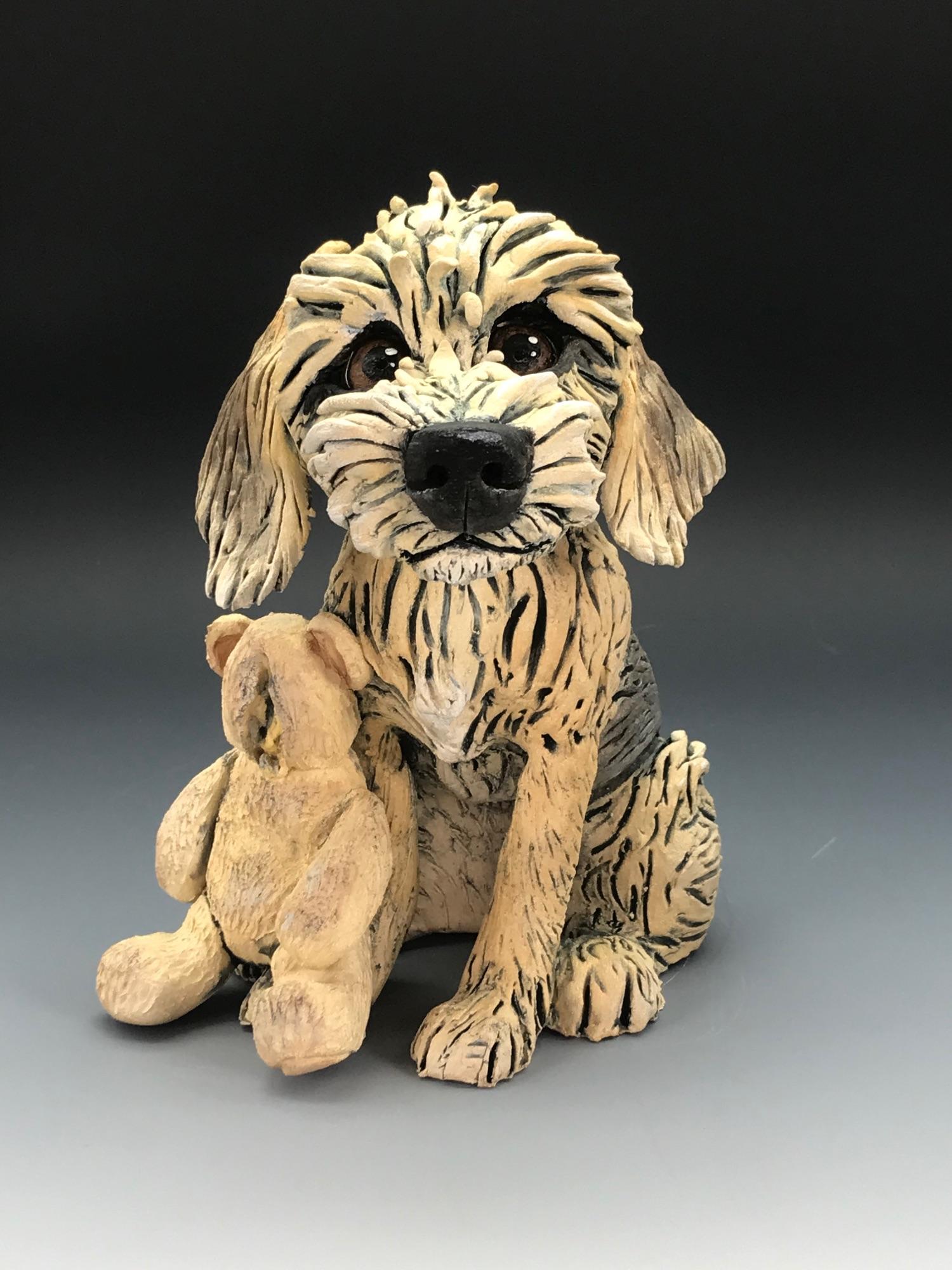 Pet Dog Sculpture, Ceramic