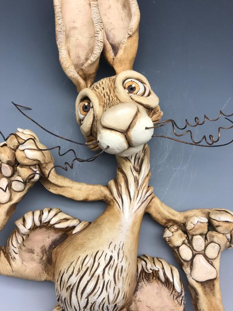 Pumpkin the Hare Sculpture, Ceramic