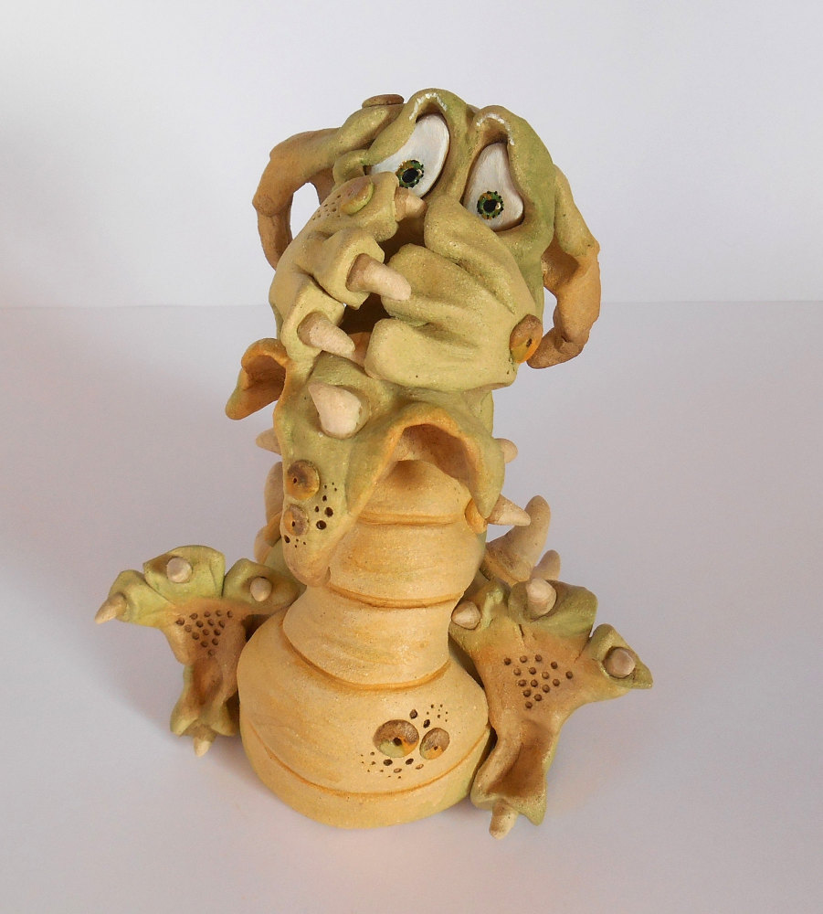 Gilbert Dragon - Ceramic Sculpture