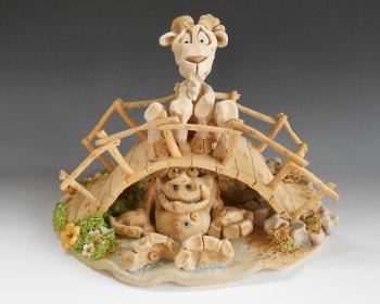 Billy Goats Gruff - Ceramic Sculpture