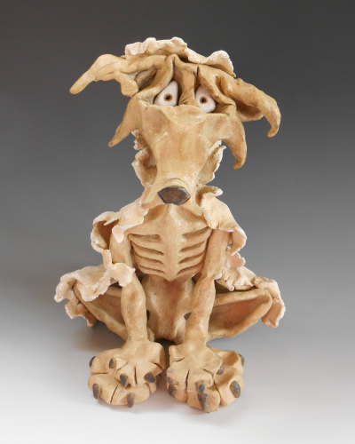 Wolf in Sheep's Clothing - Ceramic Sculpture