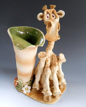 Keith the Giraffe Vase - Ceramic Sculpture