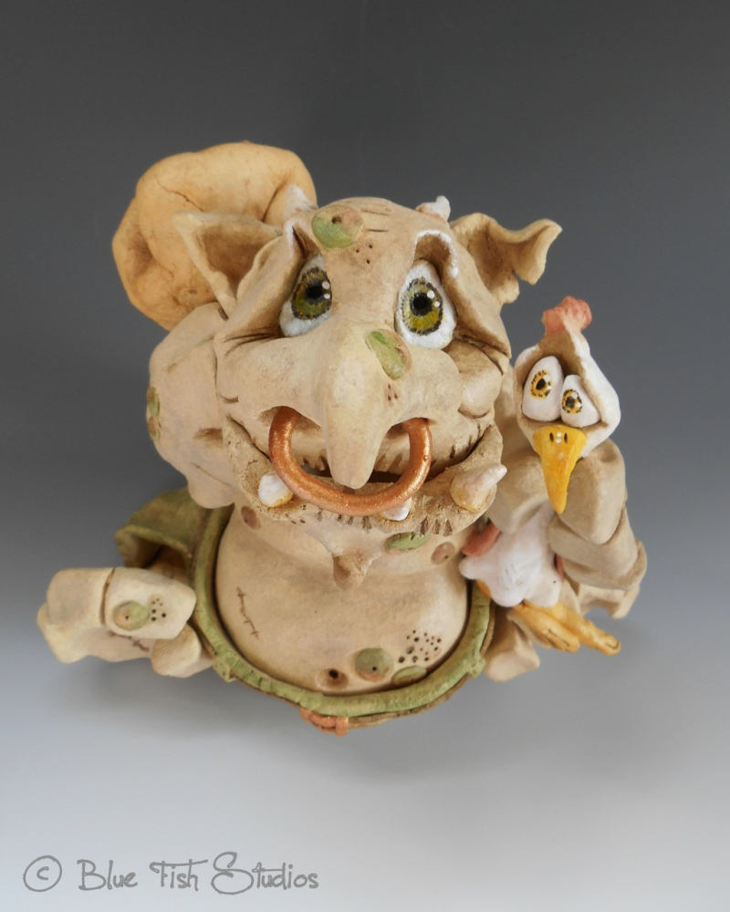 Walther the Troll - Ceramic Sculpture