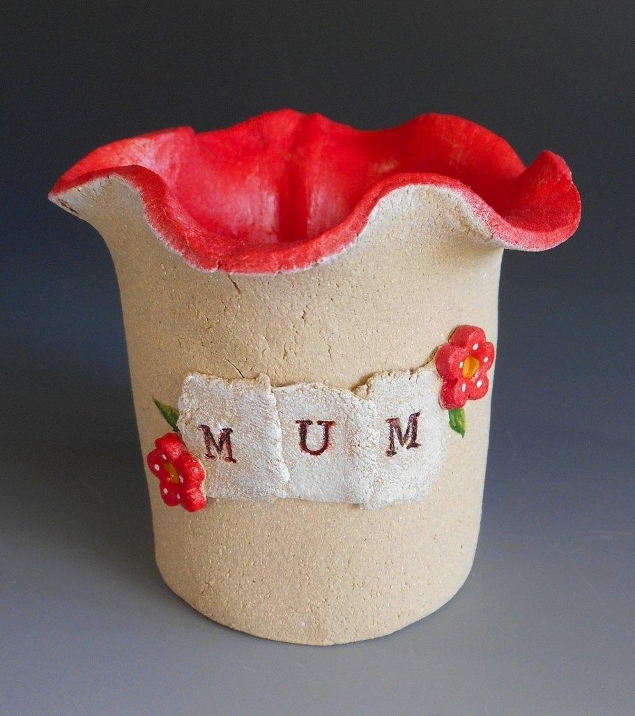 Small Flower Posy Vase Ceramic - For Mum