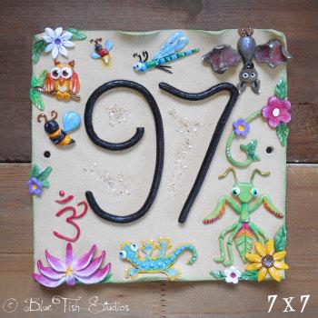 House Address Number, Oriental Design
