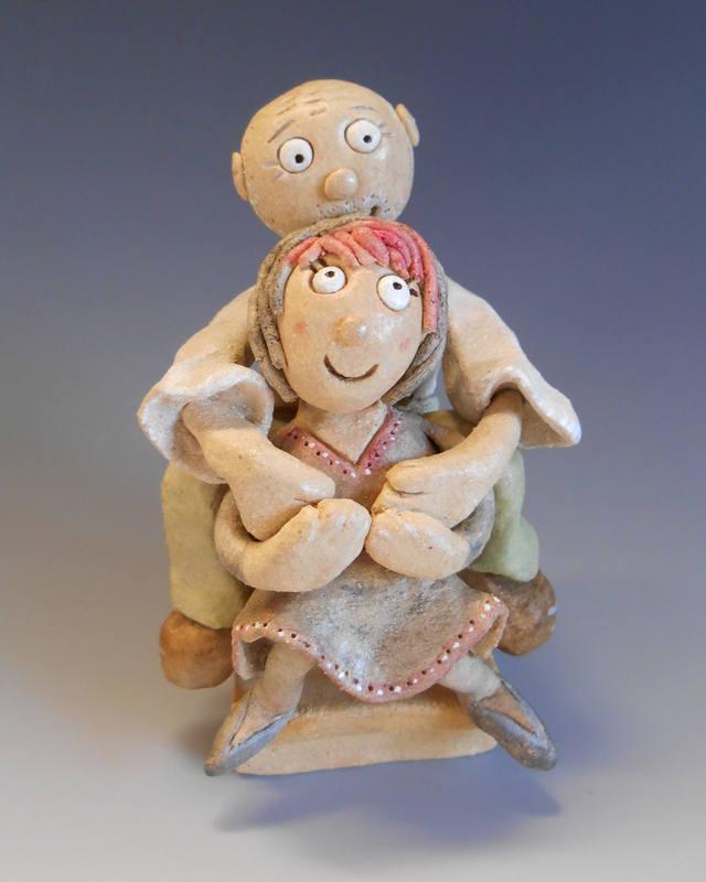 Couple Sculpture Ceramic Pottery